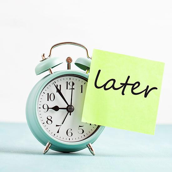 5 Strategie per eliminare la procrastinazione